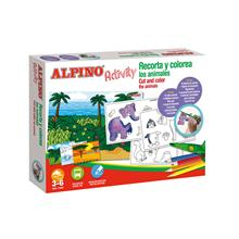 Alpino Activity recorta y colorea Animales