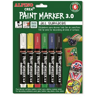 Alpino Crea Paint Marker para decorar. Colores básicos.