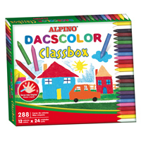 Economy pack wax crayons Dacscolor 288 units