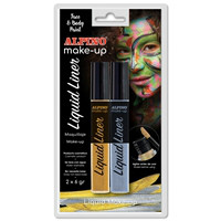 Alpino Face Paint Liquid Liner. Blister silver and gold, 6 g.