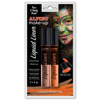 Alpino Face Paint Liquid Liner. Blister orange & brown, 6g