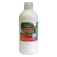 Botella tempera escolar 500 ml. blanco