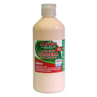 Botella tempera escolar 500 ml. rosa carne
