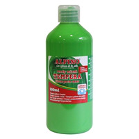 Botella tempera escolar 500 ml. verde claro