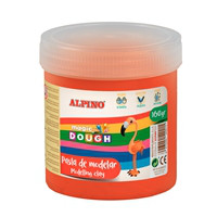 Pasta de modelar Alpino Bote Magic Dough 160 grs, rojo