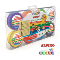 Pasta de modelar Alpino Magic Dough 8 x 14 grs.