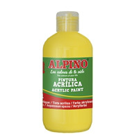 Bottle acryilic paint for school 250 ml. yellow