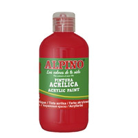 Bottle acryilic paint for school 250 ml. red